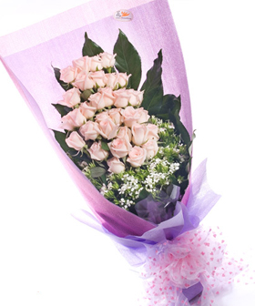 Pink gift - flowers to China