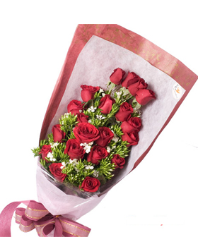 Expression of love - flowers to China