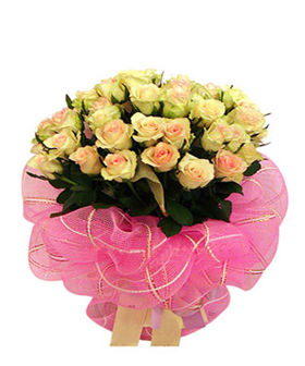 champagne roses - flowers to China