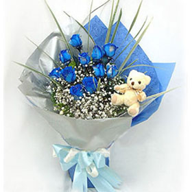 Blue love-send flowers to China