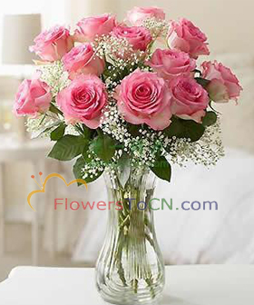 pink roses : - flowers to China