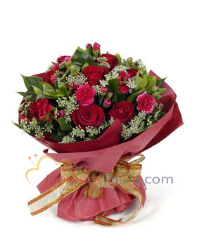 12 red roses - China flowers