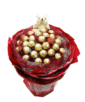 32 Chocolate Bouquet - chocolate to China