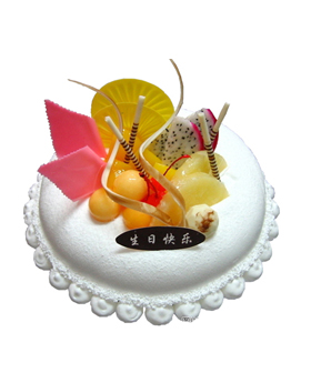Cream fruit cake - cakes to china