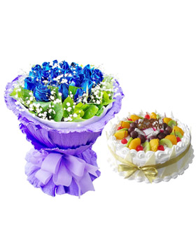 Blue Combination - China flower delivery