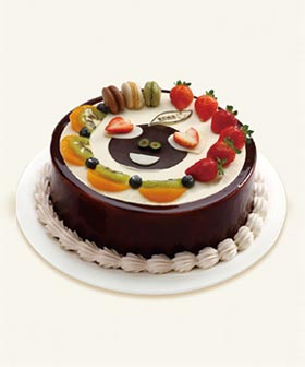 C061903China cake delivery shop Send Chocolate fruit cake to China